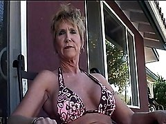 Grandpa Babe Jizzed On Biggest Fake Tits