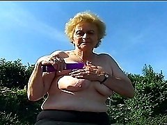 Exceptionally Old Lady In Nylons Benefits from Big Penis
