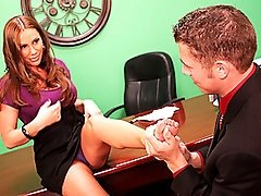 Sky Swallows Her Employee's Hot Spunk Load