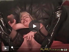 My MILF As was born Titsy full-grown ins tockings and boots Vibrator