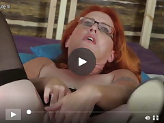 Redhead seasoned mother I'd enjoy to fuck and her excited old love-cage