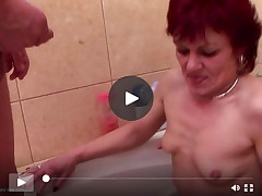 Seasoned MILF and grannies piss and fucks juvenile son