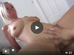 Super hot German mommy I'd have benefit from to fuck Nasty Tina smokin' a boyish slave