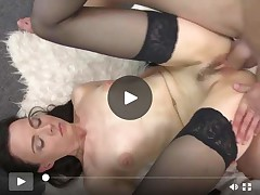 Lean grown mommy licked and owned by son