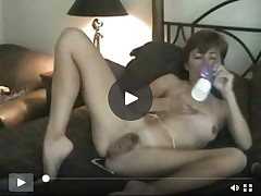 Infant full-grown unshaved milf mamma solo jerking off with penis stimulator toys
