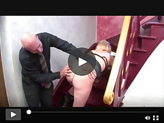 german mother I'd like to fuck owned at stairs