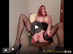 My MILF in nature's garb real adolescent wife getting deviant at home