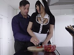 Katrina Moreno is a massive titted female servant who likes to have act of love greater magnitude than activity her job
