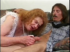 She's old, that babe smells, and she's ugly, but that babe still aspires some loving. This creeper comes in and has offered his dick up to this ginger granny. that babe is eternally contending that that babe sucks him off right then and there, in the nurs