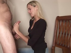 Cheating Wife Sucks Shlong takes raw face whole of cum!