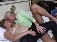 Maxima is adolescent and fascinating and she's about to be violated by 3 lesbian chicks who are much older than this babe is. They get undressed her and slowly takes of her jeans so one of  can eat out her adolescent pussy. This chick puts her lips on the