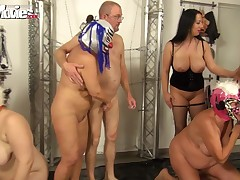 All  slaves will do thoroughly whatsoever for this attractive goddess. That includes entertaining her with humiliating sex. The gimps pound each other mercilessly as the  watches and receives drilled by a submissive from behind. There's dong swallowing an