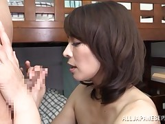 This appealing placid Japanese lady has her hirsute bush fingered by her man. Only time this babe is nice and moist this babe is equipped to attain down on her knees and blow on some cock. She licks the tip which makes his sensitive peehole seep out precu