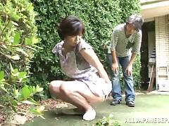 Japanese AV Case is a excited female servant enjoying a massive smokin'