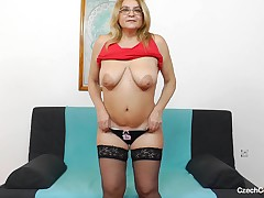 This ugly mature slut launches up her hirsute pussy for you, so u can observe cavernous interior her snatch. This chick holds and shows off her saggy tits for you, as well. This chick is such a bawdy old lady. Look as if at how heartless this chick is.