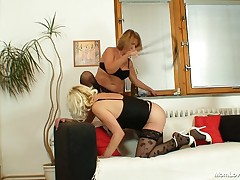 It's time for some mother I'd satisfy to fuck action! Fairy mother I'd satisfy to fuck doxies Anastazie and Halina are up to no good. One of the doxies plays the role of a bond sex servant and that babe stays down on her knees, hairy sack gagged and enjoy