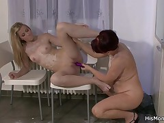My girl is blonde, slim and beautiful and I love her simply as much mother I'd like to fuck into her. The 2 play action lots of things together, including cooking and fucking! Here they are, in the kitchen, making one hell of a mess. Mamma teaches Barbara