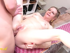 Fifty Year Old Milf Obtains Anal Hammering From Her Toyboy Masseur