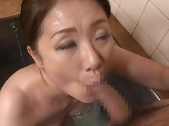 Afterward dinner, the couple vanish to the tub and have a superior fuck. They kiss, and then, she grabs his stick and sucks it. This guy is rock hard. This girl licks his shaft and stick tip. They play with tongue some extra quantity and then this dude pe