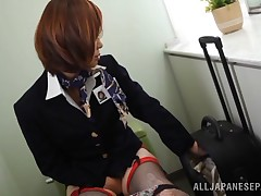 On a trek from Tokyo to Vancouver this dirty prostitute heads to the bath for some time to herself. This chick takes out her undersize copulation tool and stuffs it against her unshaved pussy. This chick is oozing tacky now, and this babe forces the copul
