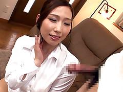 Horny Japanese sweetheart Ai Sayama in Pervy JAV censored Blowjob, Giant Love bubbles scene