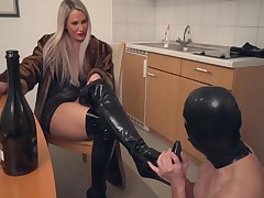 Stunning Lady In A Fur Coat Caught Slaves For Enforcement