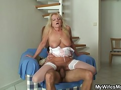 I am and my wifes mom Debi are extreme afterwards every other. I fuck her greater quantity than I fuck my wife! Here we were all alone in the home and in no time, that babe started to rode I'm with that big, hot ass. The saggy blonde knows how to move and