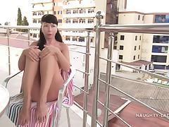 Clammy Public Nudity Milf Video With Nasty Lada