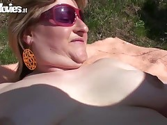 Carmen our kinky fuck doll from the country feels like to be drilled in the open air. Rapidly this babe finds twofold potent dick-holders to fuck the hirsute doxy hard. They fuck her rough in twists and dick water all over her face.