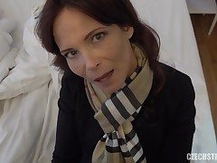 Syren De Mer is a giant titted, Czech woman who likes a good, rear fuck