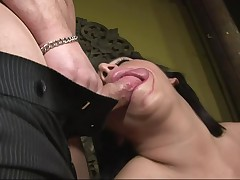 Vannah is so astonishingly contending today! Why? Because she's sitting on the mattress between double guys. She's a busty, experienced lady that loves engulfing raw weenies and  chaps have everything this chick needs. Look at her now, engulfing stick and