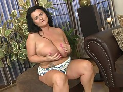 Lorie has one of the vast pairs of saggy mounds u have ever seen. This girl licks her nipples and juggles her mammoth breasts. Glimpse as that babe embarks on up her mammoth hips and plays with her vagina. This girl masturbates this chick is and that babe