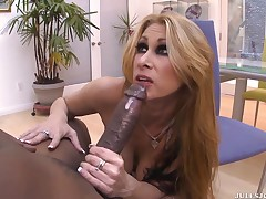 Titsy Blonde, Tiffany Mynx Is Giving A Head To Lex Steele, Prior to Having Anal Fucking action With Him
