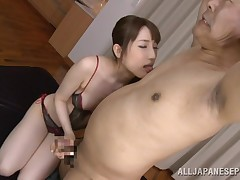 Look as if at this guiltless and nubile young Japanese slut. This babe is so nasty and today, she's going to take in the cock of a much aged man. This babe obtains him in the mood, by licking his nipps and even kisses him. Spot her explore the old guy's d