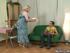 My wife's MILF is one hell of a lady. She's so nice with I am and even made a birthday cake for me. Unfortunately, my wife was not there to celebrate my birthday and I'm staring to smack sort of horny. Maybe her MILF will give a hand I am out with that. H