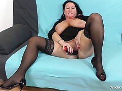 Robislava doesn't hunger after anything except a dildo and a bed, when this babe is alone at home. It is not satisfactorily for her to have sex. This girl aspires to make sure, this babe preps herself up for banging as well. Perceive her finger and growl