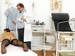 Darja dragged her corpulent butt to the doc, for a twat exam. This chick took a seat on the gynecologist chair, swell her wastes and allowed the doc to check out her cunt. The doc gaped her pussy, examined it and then, inserted a plastic sonde immeasurabl