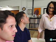 Maya Luna - DP'd by her step-son and his buddy!
