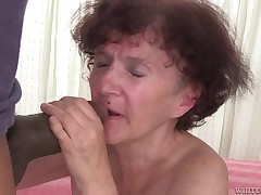 She's old, but not too old for a gigantic black cock! The older used to be a slimy bitch back in her time and now, null changed! In fact she into dick more than ever and here you have her, sucking on this guy's severe dong. The prostitute older sucks it h