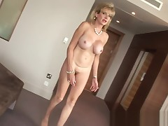 Lady Sonia anal fake penis fuck
