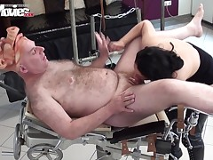 If u appreciate the infant queens in hardcore copulation videos, I gamble u wouldn't hunger after to miss this one! A brown hair cunt is dug by an old man wearing a pig blocking cloth on his face. Irina's got a photogenic pussy merely waiting for to be us