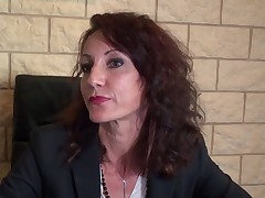 Lyna Cypher - MILF secretary gets fisted and owned up the ass at the office
