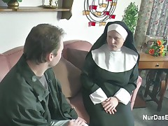 Nasty nun couldnt resist swallowing a firm dick and riding it until she experienced an orgasm