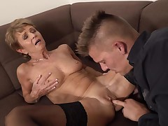 Romana is a slutty elderly who looks awesome and fond of to fuck exclusively younger studs