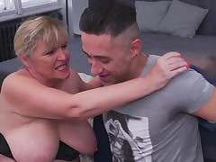 Fairy-haired mature fall in love with mouth to mouth until her fur pie gains wet and then this chick needs a wonderful fuck