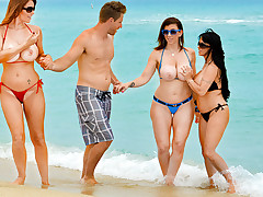 Charlee Track & Holly Halston & Sara Jay & Levi Cash in Tempted by a Cougar