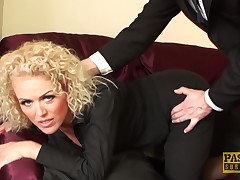 Curly haired MILF lets she's be used heavy