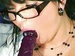big titty milf dildo sucking and titty fucking on webcam