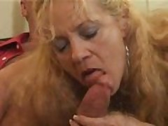horny mature blonde fucked by young guy