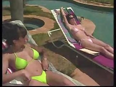 Southern MILFs tanning